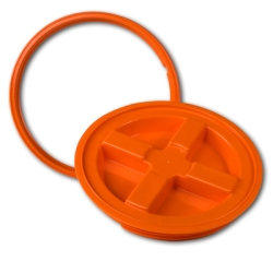 Orange Gamma Seal® Lid for 3.5 to 7 Gallon Pail