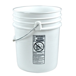 Premium White 5 Gallon Bucket