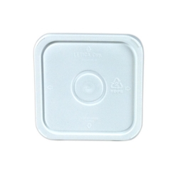 Letica® 3-1/2, 4 & 4-1/4 Gallon White HDPE Square Lid