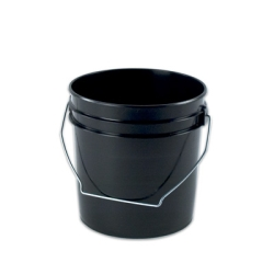 Black 1 Gallon Plastic Pail