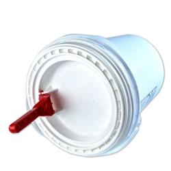 White Non-Spout Lid for 5 Gallon Ultimate Pail for Liquids
