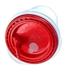 Red Spout Lid for 5 Gallon Ultimate Pail for Liquids