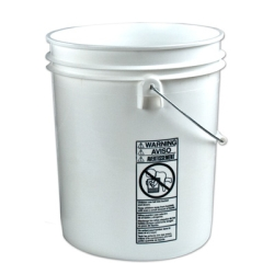 Letica® Standard White 5 Gallon Bucket