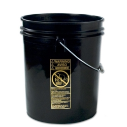 Letica® Standard Black 5 Gallon Bucket