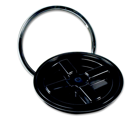 Black Gamma Seal® Lid for 3.5 to 7 Gallon Pail