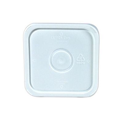 3-1/2, 4 & 4-1/4 Gallon White HDPE Square Lid