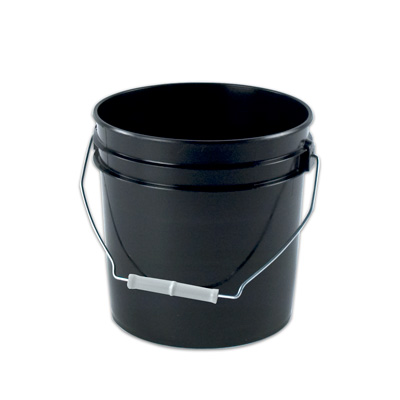 Black 2 Gallon Plastic Bucket (Lid Sold Separately)