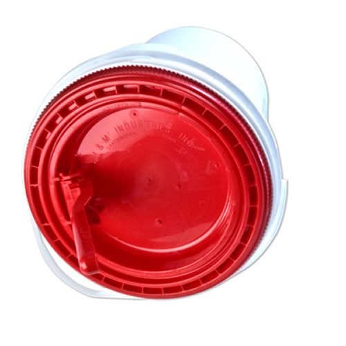 Red Non-Spout Lid for 5 Gallon Ultimate Pail for Liquids