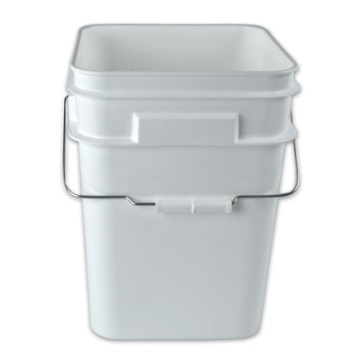 "4 Gallon Pail 9-15/16"" Sq. x 13-1/4"" H"