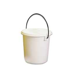 Nalgene™ Graduated Air-Tight White 8 Qt. Pail with Cover