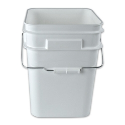 4 Gallon HDPE Square Pail