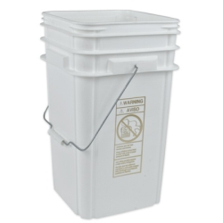"5 Gallon Tall Pail 9-15/16"" Sq. x 16-13/16"" H"
