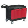 "Rubbermaid® TradeMaster® Large Cart with 2 Door Cabinet -  26-1/4"" W x 49"" L x 38-1/4"" H"