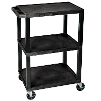 Black 3 Shelf Utility Cart