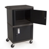 Black Dual Storage Cabinet Cart