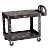 "Black Rubbermaid® Medium Flat Shelf Utility Cart - 43-7/8"" L x 25-5/8"" W x 33-5/16"" H"