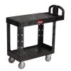 """Black Rubbermaid® Small Flat Shelf Utility Cart - 37-7/8"""" L x 19-3/16"""" W x 33-5/16"""" H"""