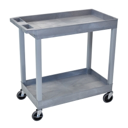 2 Shelf Gray Tub Cart