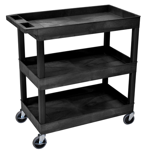 3 Shelf Black Tub Cart
