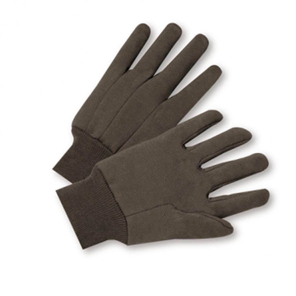 10 oz. Brown Jersey Work Gloves