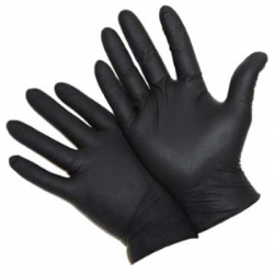 PosiSheild™ Powder Free Black Nitrile Disposable Gloves