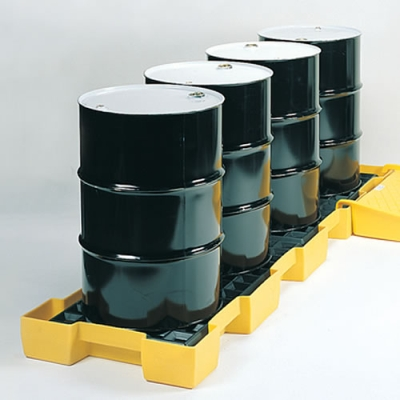 """4 Drum Inline Spill Containment Platform - 103.5"""" x 26.25"""" x 6.5"""""""