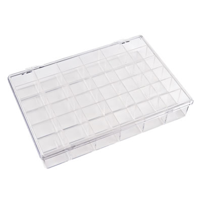 "K-Series™ Styrene 36 Compartment Box - 10"" L x 7-1/8"" W x 1-11/16"" Hgt."