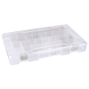 "Tuff-Tainer® Polypropylene 4 Compartment Box - 13-11/16"" W x 8-3/16"" L x 1-3/4"" Hgt."
