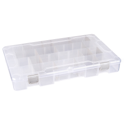 """Tuff-Tainer® Polypropylene 4 Compartment Box - 13-11/16"""" W x 8-3/16"""" L x 1-3/4"""" Hgt."""
