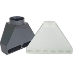 PVC & Polypropylene Rear Fume Exhaust Hoods