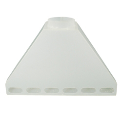 "72"" Wide Polypropylene Rear Fume Exhaust Hood"