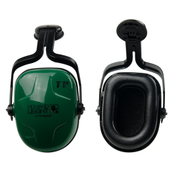 Thunder® Noise-Blocking Earmuffs with Green Cap-Mount