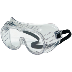 Clear Perforated Protective Safety Goggles