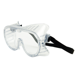 Clear Perforated Protective Safety Goggles with Rubber Strap