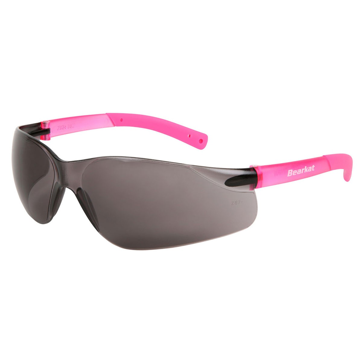 Small BearKat Glasses with Pink Temple & Gray Lenses