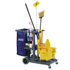 Gray Short Platform Janitorial Cart