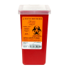 1 Quart Red Stackable Sharps Container