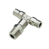 "1/2"" Tube x 1/2"" NPT Nickel-Plated Brass Male Branch Tee"