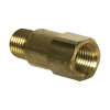 "1/4"" MNPT x 1/4"" FNPT Series 410 Brass Check Valve with Buna-N Seals - 1 PSI"