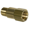 "1/4"" MNPT x 1/4"" FNPT Series 410 Brass Check Valve with EPDM Seals - 1 PSI"