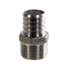 "1"" PEX x 3/4"" MNPT Stainless Steel Male Adapter"
