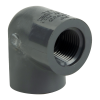 "3/8"" Schedule 80 Gray PVC Threaded 90° Elbow"
