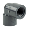 "3/4"" Schedule 80 Gray PVC Threaded 90° Elbow"