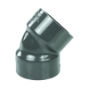"1-1/4"" NPT Schedule 80 Gray PVC Threaded 45° Elbow"