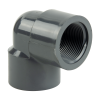 "1-1/4"" Schedule 80 Gray PVC Threaded 90° Elbow"