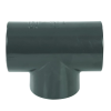 "1-1/2"" Schedule 80 Gray PVC Threaded Tee"