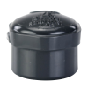 "1/2"" Schedule 80 Gray PVC Threaded Cap"