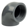 "3"" Schedule 80 Gray PVC Threaded 90° Elbow"