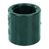"""1-1/4"""" Schedule 80 Gray PVC Threaded Coupling"""