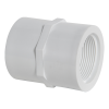 """1/2"""" Schedule 40 White PVC Threaded Female Coupling"""